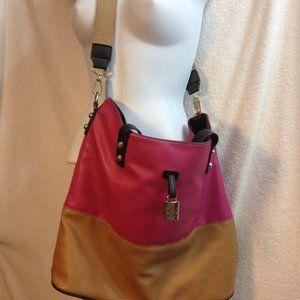 Jessica Simpson Satchel LRG Tote Bag Pink/Tan